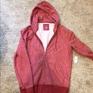 Red Gap Zipped Hoodie- XL